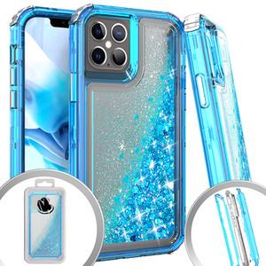 Iphone 12 Mini (5.4) MM Water Glitter Hybrid Case Teal