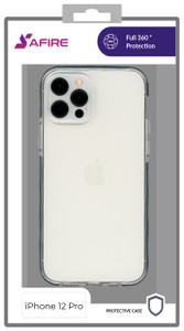 Iphone 12/12 Pro (6.1) MM Clear Side Spine Case Black