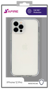 Iphone 12/12 Pro (6.1) MM Clear Side Spine Case White