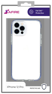 Iphone 12/12 Pro (6.1) MM Clear Side Spine Case Blue