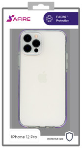 Iphone 12/12 Pro (6.1) MM Clear Side Spine Case Purple