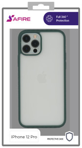Iphone 12/12 Pro MM Clear Rugged Case Green