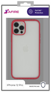 Iphone 12/12 Pro MM Clear Rugged Case Red