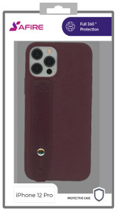 Iphone 12/12 Pro MM Premium Case with Hand Strap Red