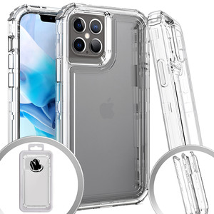 iPhone 12 Mini 5.4 MM Clear Rugged Hybrid Case Clear