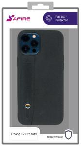 iPhone 12 Pro Max 6.7 MM Premium Case with Hand Strap Black