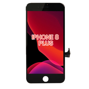 iPhone 8 Plus LCD with Touch And Back Plate Black