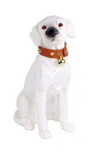 M211 Large Dobermann Dog Bluetooth Speaker White