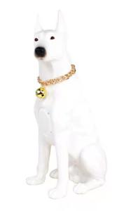 M210 Large Labrador Dog Bluetooth Speaker White