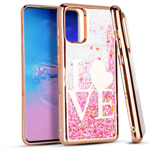 Samsung S20 Plus MM Water Glitter Case Love