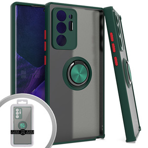 Samsung A10S MM Clear Magnet Ring stand Case Army Green