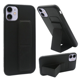 iPhone 11 Foldable Magnetic Kickstand Vegan Case Cover Black