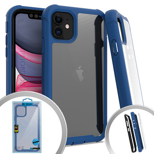 iPhone 11 MM Clear Rugged Case Navy Blue