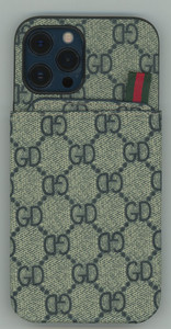 iPhone 12/12 Pro MM Pattern Design Case Grey