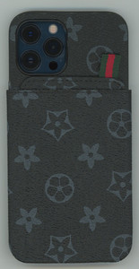 iPhone 12/12 Pro MM Pattern Design Case Black