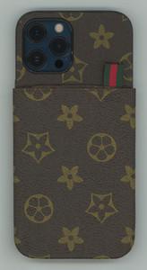 iPhone 12 Pro Max MM Pattern Design Case Brown