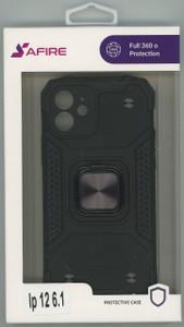 Iphone 12 6.1 MM Triple Layer Magnet Case Black