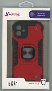 Iphone 12 6.1 MM Triple Layer Magnet Case Red