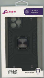 Iphone 12 Pro Max 6.7 MM TRIPPLE LAYER MAGNET CASE Black