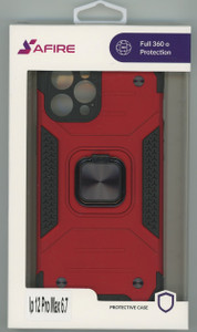 Iphone 12 Pro Max 6.7 MM TRIPPLE LAYER MAGNET CASE Red