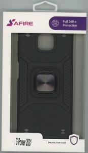 Moto G Power 2021 MM Triple Layer Magnet Case Black