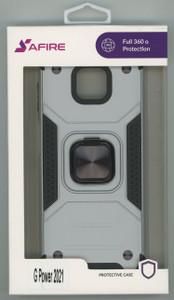 Moto G Power 2021 MM Triple Layer Magnet Case Silver