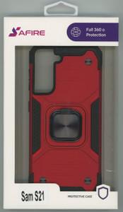 Samsung S21 MM TRIPPLE LAYER MAGNET CASE Red