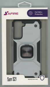 Samsung S21 MM TRIPPLE LAYER MAGNET CASE Silver