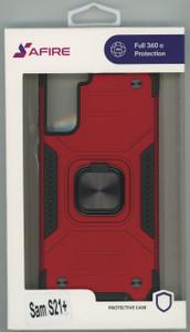 Samsung S21+ MM TRIPPLE LAYER MAGNET CASE Red