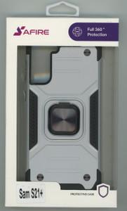 Samsung S21+ MM TRIPPLE LAYER MAGNET CASE Silver
