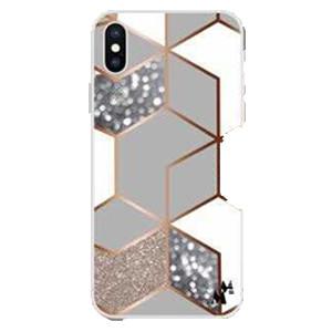 Iphone 12/12 Pro 6.1 MM Design Hybrid Marble Rhombus