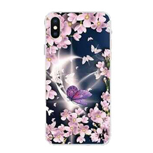 Iphone 12 Pro Max 6.7 MM Design Hybrid Purple Butterfly