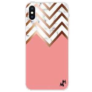 Iphone 12 Pro Max 6.7 MM Design Hybrid Pink Chevron