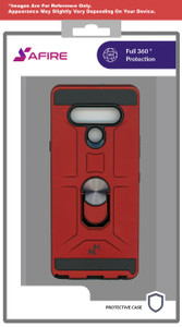 Lg K22 MM Ring Stand Case Red
