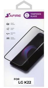 LG K22 MM Full Covered Premium Tempered Glass Black