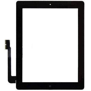 iPad 3 Digitizer + Home Button Black