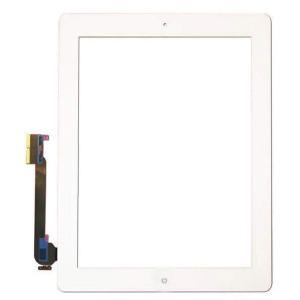 iPad 4 Digitizer + Home Button White