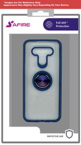 Lg K22 MM Clear Magnet Ringstand Blue