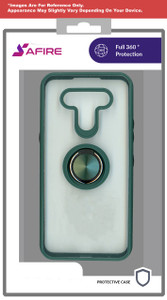 Moto G Power 2021 MM Clear Magnet Ringstand Army Green