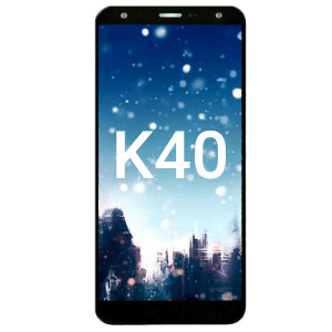 LG K40 2019 / K12 Plus LCD With Touch + Frame Black