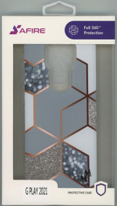MOTO G PLAY 2021 MM Design Hybrid Marble Rhombus