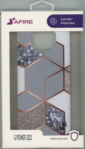 MOTO G POWER 2021 MM Design Hybrid Marble Rhombus