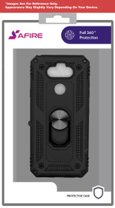 iPhone 8/7/SE 2020 MM Rugged Ring Stand Case Black