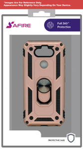 iPhone XR MM Rugged Ring Stand Case Rose Gold