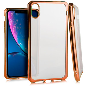 iPhone XR MM Clear Armor Case Rose Gold