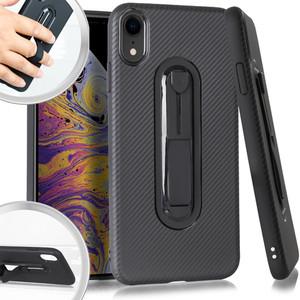 iPhone XR MM CF Slim Case W Kick Stand Case Black