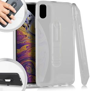 iPhone XR MM CF Clear Case W Kick Stand Case