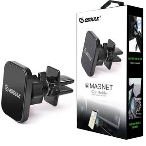 ESOULK Magnetic Twist-Lock Car Air Vent Holder Black