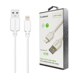 ESOULK Heavy Duty AI2 2Ah Fast Lightning USB Cable 10ft- White