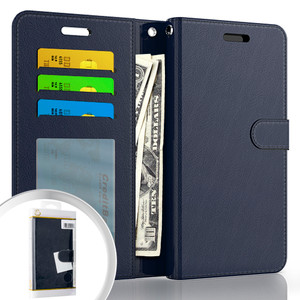 Moto G Power 2021 MM Folio Wallet Case Navy Blue